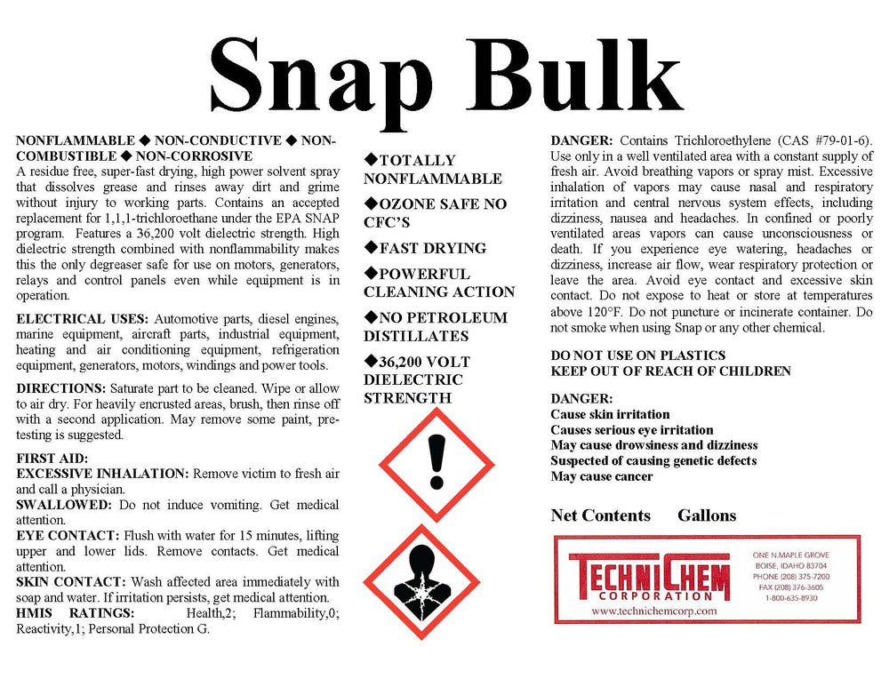 SNAP, Safety Solvent