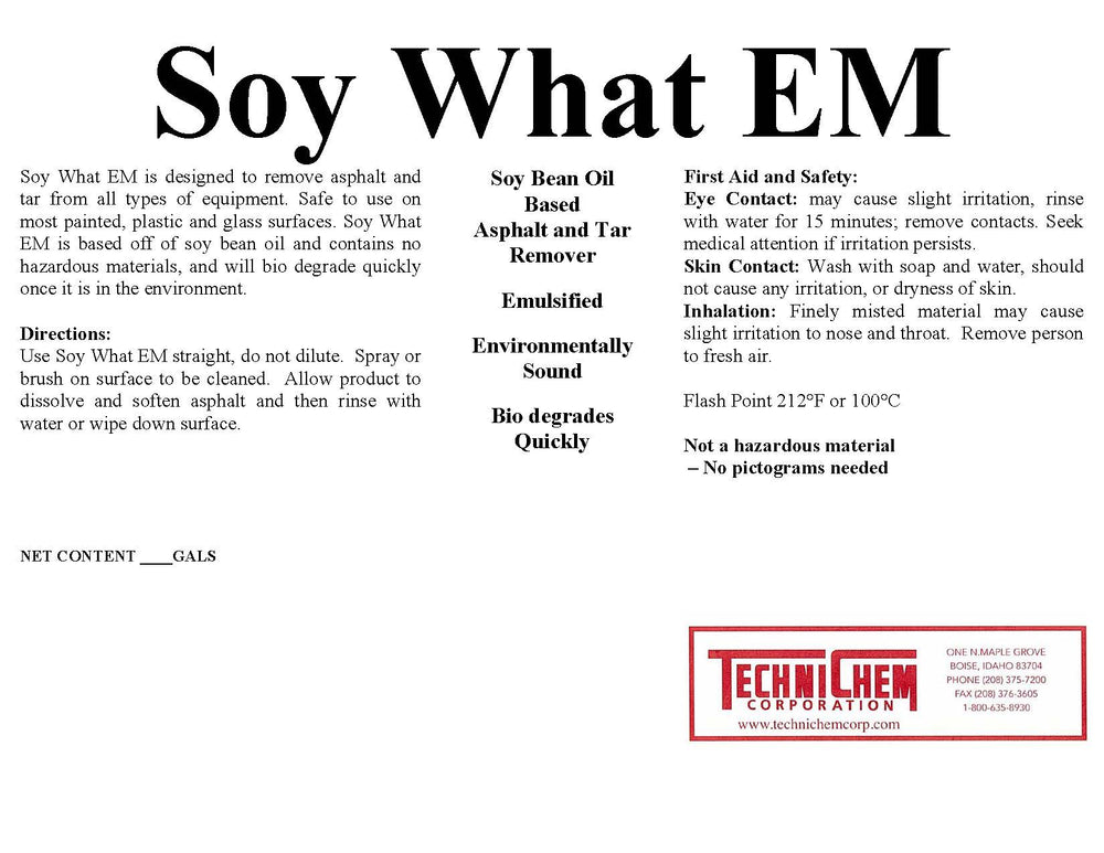 SOY WHAT EM, Safety Solvent
