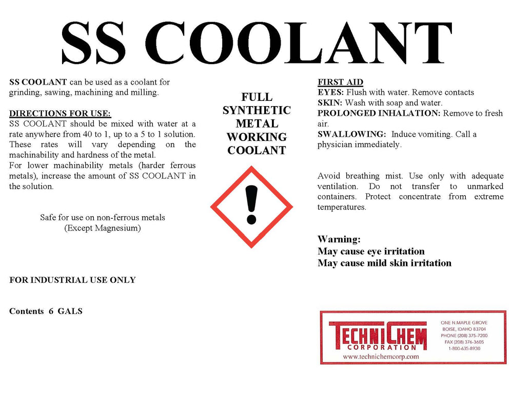 SS COOLANT, Grinding Coolant