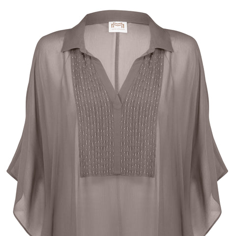 Allure Kaftan in Taupe-Cristal