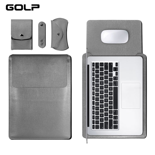 Universal PU Leather Soft Sleeve Bag Case For Macbook Air / Pro Retina