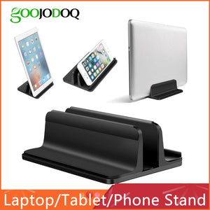 Vertical Laptop Stand for Macbook Air / Pro Desktop Aluminum Stand with Adjustable Dock Size for Surface Chromebook
