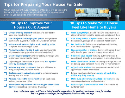 Preparing Home for Sales