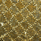 Diamond Double Sequins Pattern Silk Georgette