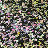 Black and Multicolor Sequins Silk Georgette