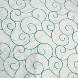 Dotted Swirls Silk Shantung Embroidery