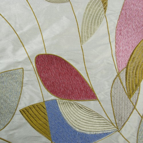Abstract Shapes Silk Shantung Embroidery