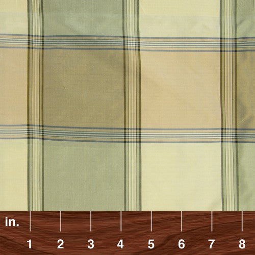 Silk Taffeta Check & Stripes