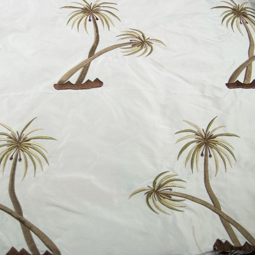 Coconut Trees Silk Taffeta