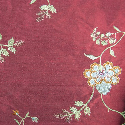 Silk Shantung Embroidery 035
