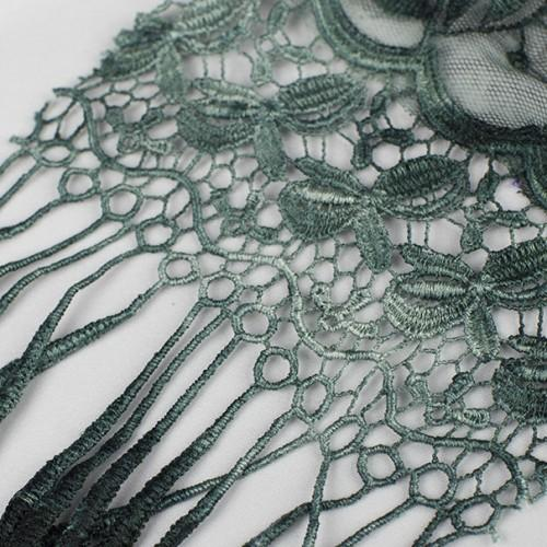 Thin Loopy Floral Embroidered Lace Fabric