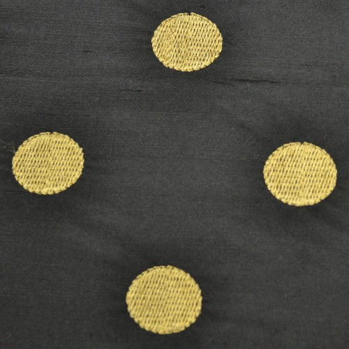 Polka Dot Pattern Silk Shantung Embroidery