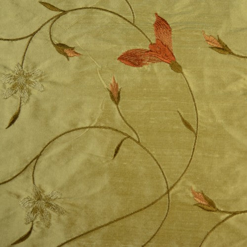 Silk Shantung Embroidery 058