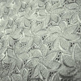 Floral Eyelet Silk Shantung Embroidery