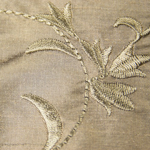 Silk Shantung Embroidery 012