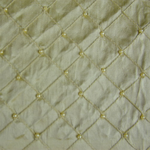 Silk Shantung Pintuck with Beads
