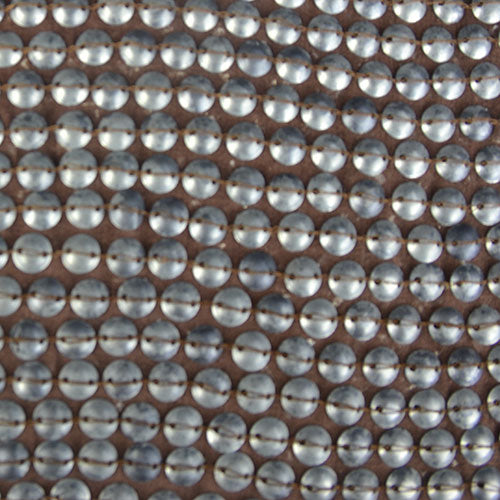Round and Square Plastic Sequins Silk Georgette