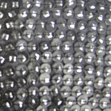 Round Leather Patch with Square Silver Sequins Silk Georgette