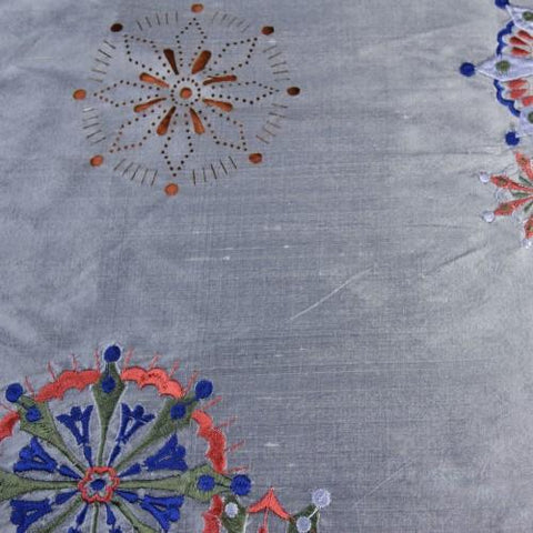 Silk Shantung Embroidery 051