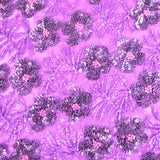 Hand Beaded Floral Lace Fabric