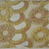Circle Wreath Pattern Lace Fabric