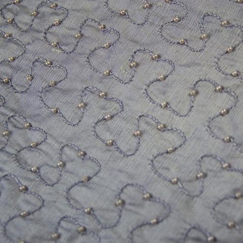Silk Shantung Hand-beaded