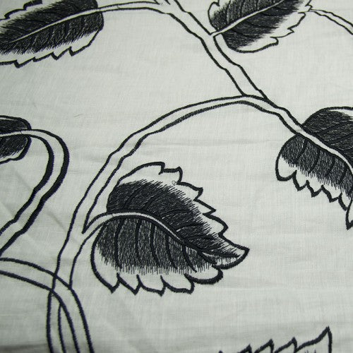 Leaf Pattern European Linen Embroidery