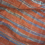 Striped and Beaded Raw Silk Tassar