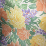 Multi-colored Flowers Polyester Print