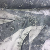 Thin Floral Beaded Embroidery Silk Organza Embroidery