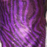 Stretch Metallic Animal Print Spandex