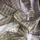Gold Cord Pattern Silk Organza