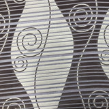 Abstract Swirl and Stripe Pattern Polyester Print