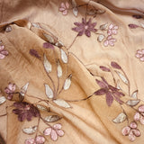Crepe Flower Pattern Silk Chiffon Embroidery