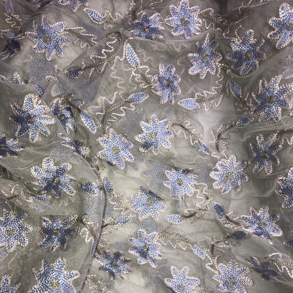 Floral Tulle Embroidery Polyester