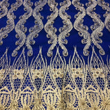 Lace with Gold Scallop Bollywood Design