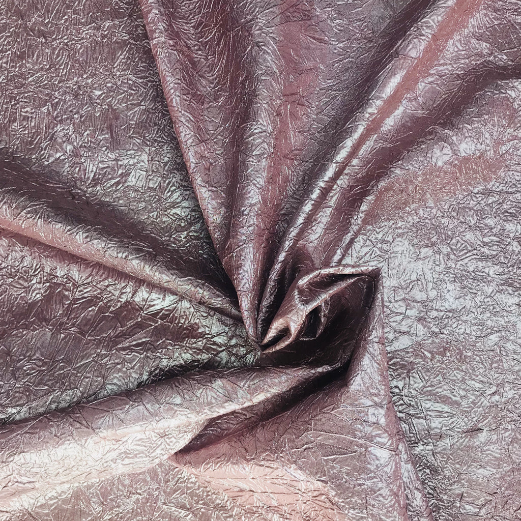 French Metallic Cracked Ice Pattern Silk Shantung