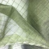 One Inch Quilted Silk Organza
