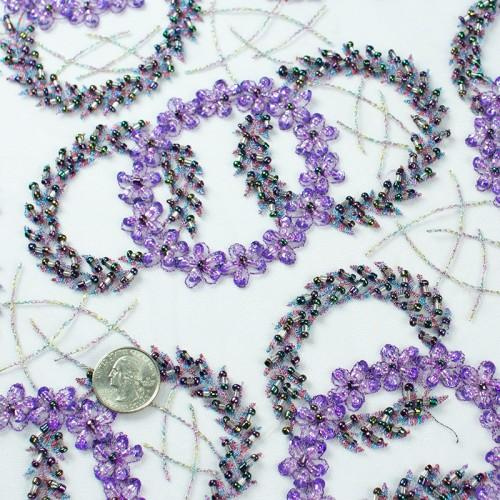 French Beaded Bangle Design Lace