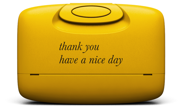 Thank you | Warm Yellow