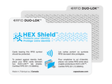 DUO-LOK™ tab shields (RFID protection)