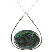 Load image into Gallery viewer, Abalone Hoop Silver Pendant
