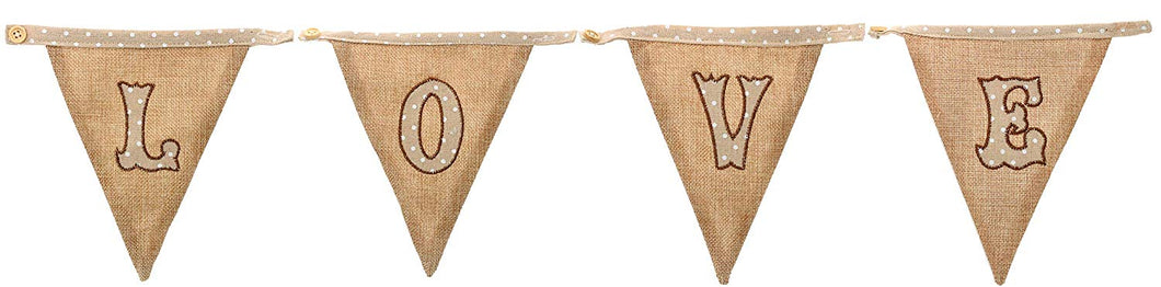 LOVE Brown Hessian Bunting
