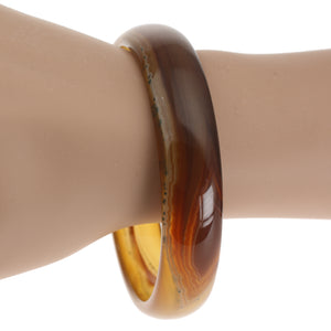 Onyx Crystal Hand Carved Bangle