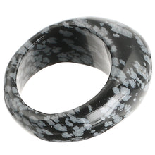Load image into Gallery viewer, Turquoise Serpentine Obsidian Crystal Stone Rings Size S