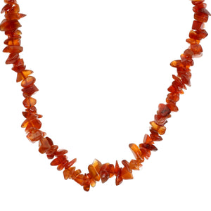 "Carnelian Crystal Jewellery 24"" Necklace"