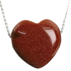 Goldstone Side Pendant and Sterling Silver Chain