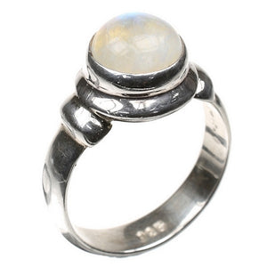 Cute Moonstone Silver Ring