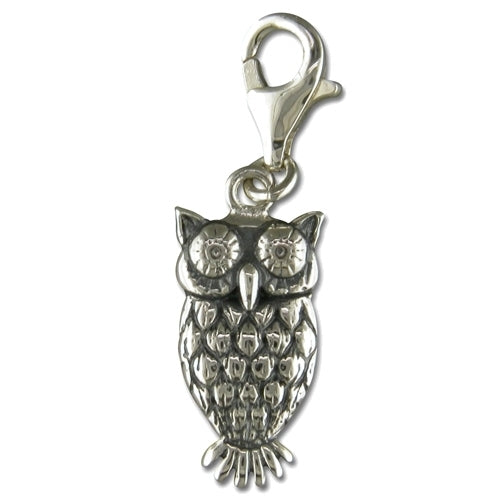 Owl Sterling Silver Animal Charm
