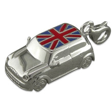 Load image into Gallery viewer, Large British Union Jack Mini Car Charm Sterling Silver - Clip or Chain available